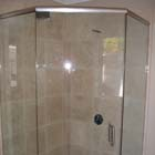 Here we installed a heavy neo angle shower enclosure with brushed nickel hardware and clear glass.