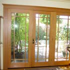 The same an old single pane patio door before we installed the new Milgard® WoodClad™ Series wood interior French door.