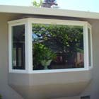 Here we replaced an old single pane window with a new double pane casement bay window.